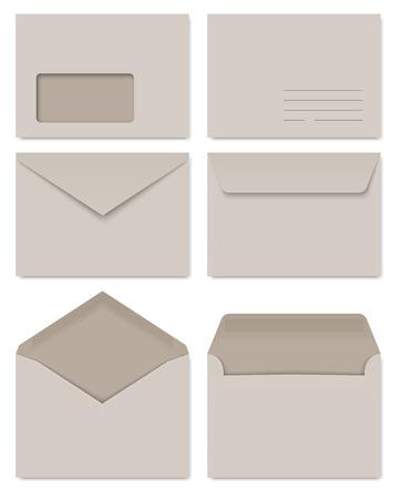 collection of gray envelopes Ilustração
