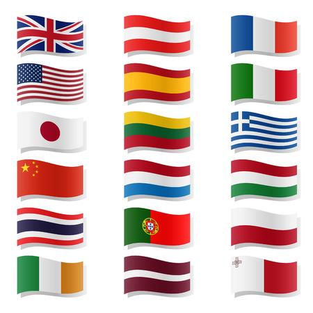 malta flag: swung national flags