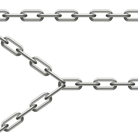 lock and chain: chain collection   Illustration