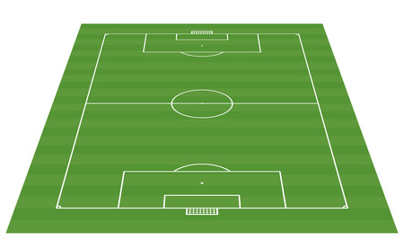 soccer field: football field 3-D background vector illustration