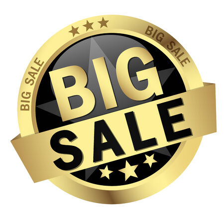 cheaper: button with text big sale Illustration