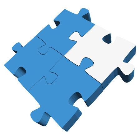 symbolism: teamwork - puzzle symbolism - one white part