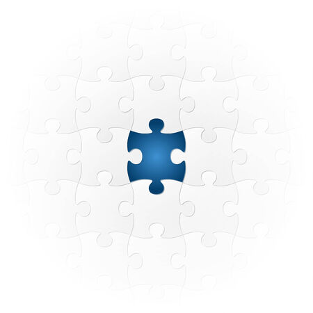 particularly: teamwork - puzzle symbolism