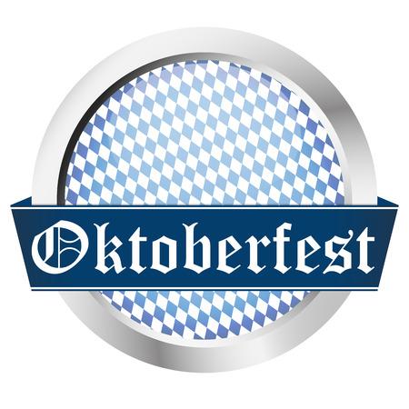vector of button Oktoberfest template   Vector