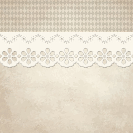 vector of old vintage background with checkered Oktoberfest pattern Vector