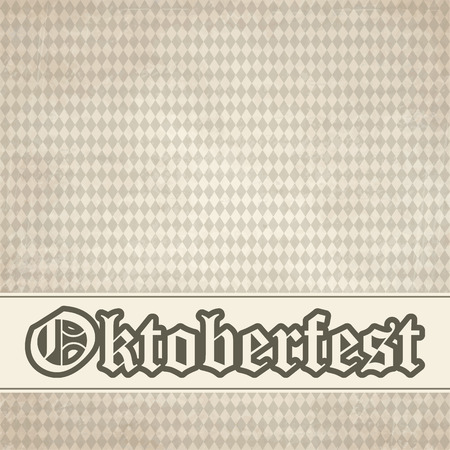 yellowed: vector of old vintage background with checkered Oktoberfest pattern