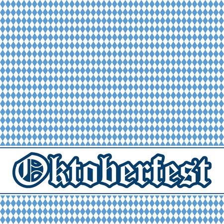 vector of Oktoberfest background with banner and text Oktoberfest Vector