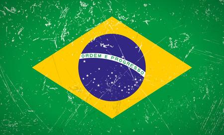 tore: Brasil grunge flag
