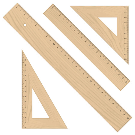 scale model: collection school supplies - ruler protractor