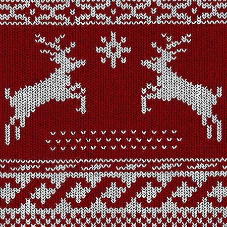 Christmas Background Norwegian Knitting Patterns Royalty Free