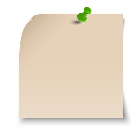 chit: brown sticky note with pin needle