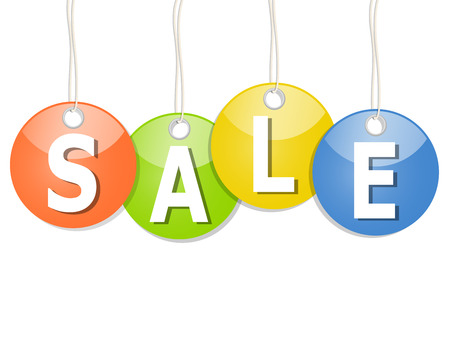 financially: colored round pendants with SALE
