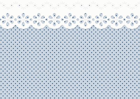 blue white kitchen: Feston  ornament on spotted pattern - endless