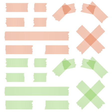 adhesive: adhesive strip red and green Illustration