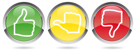 voting red-yellow-green Vettoriali