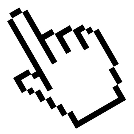 cursor hand: Pixel graphic hand - forefinger
