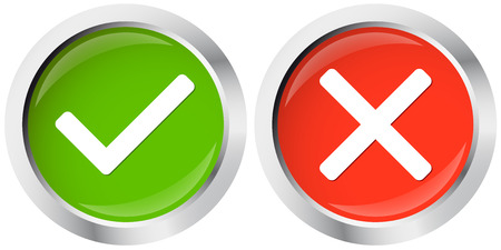 reject: button positive and negative