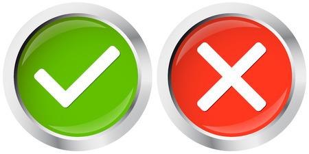 positief: knop positieve en negatieve Stock Illustratie