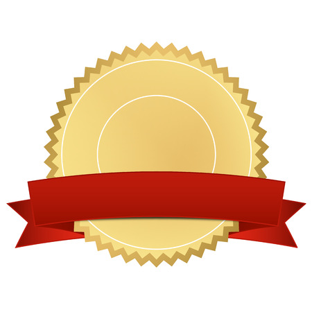 certificate with red banner
