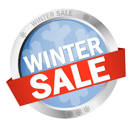 specials: Button with Banner WINTER SALE