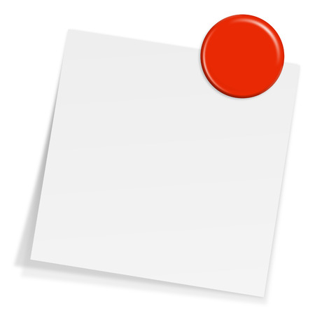 notepaper with magnet Vector