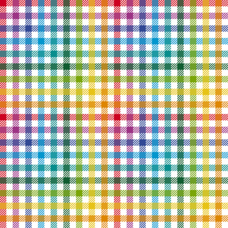 Checkered tablecloth pattern COLORFUL - endless Vector
