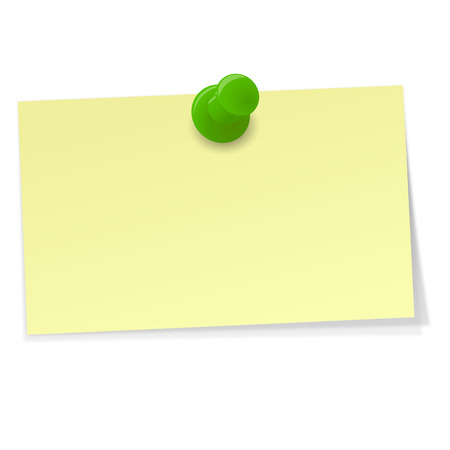 postit note: small memo with Pin