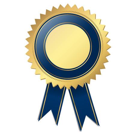 bondad: Plantilla del sello de calidad - azul Vectores