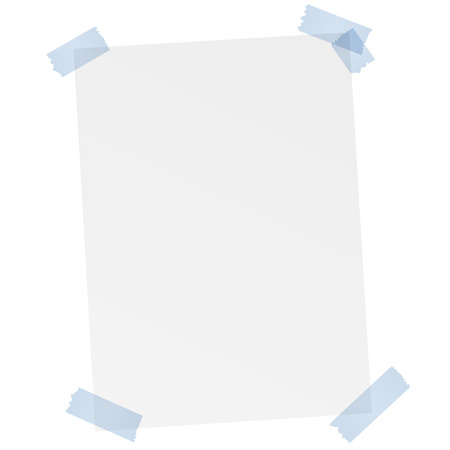 white blank paper with colored tape Illustration