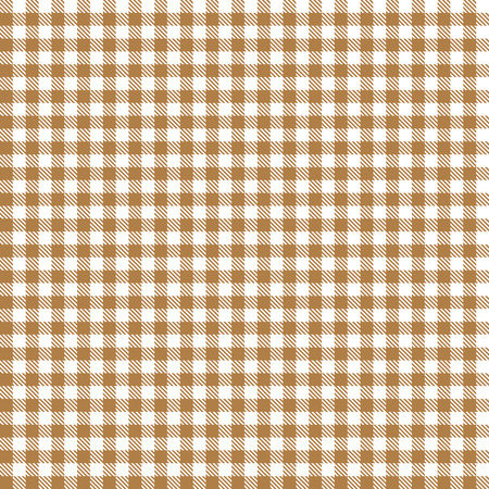 Checkered tablecloth pattern BROWN - endlessly Vector