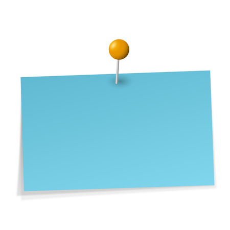 post it note: memo with needle