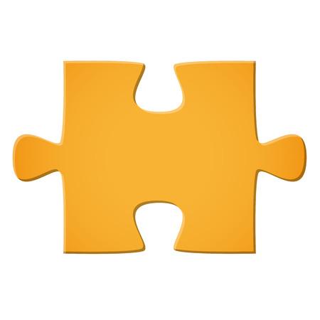 Puzzle piece yellow