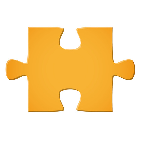 Puzzle piece yellow
