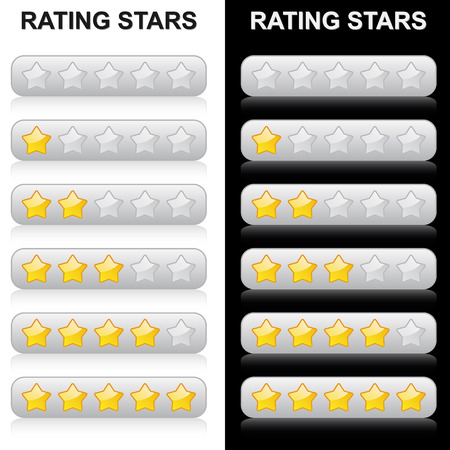 hotel reviews: Rating Stars - 0 to 5