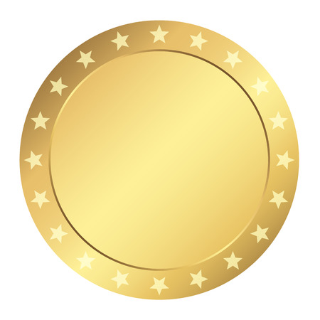 Template Seal - gold with stars