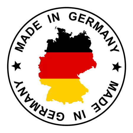 made in germany: Patch Made in Germany Illustration