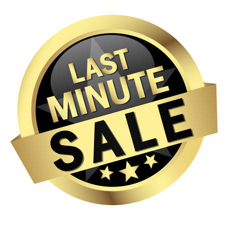 last minute: Button with banner LAST MINUTE SALE
