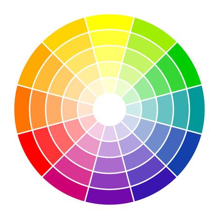 Círculo color de 12 colores Ilustración de vector