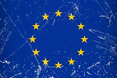 tore: Grunge flag country - EU