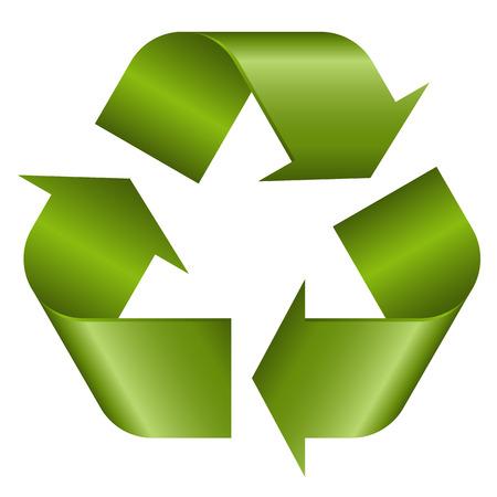 reciclable: Reciclaje de símbolo verde Vectores