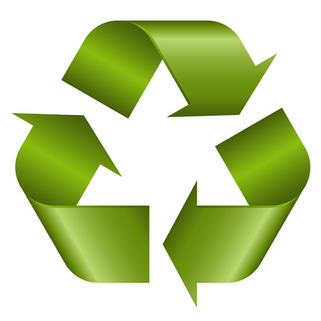 waste recovery: Recycling symbol green