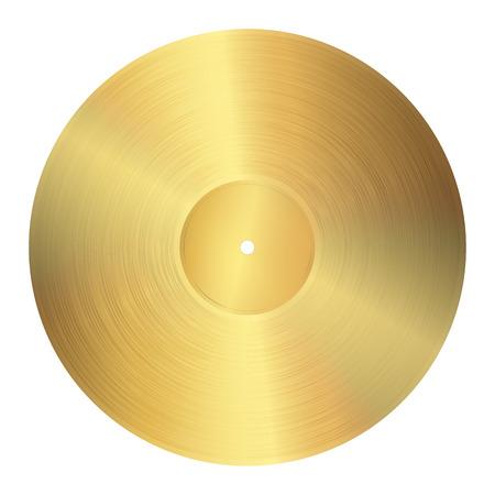 gouden vinylplaat Stock Illustratie