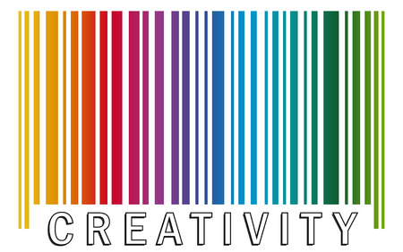 barcode CREATIVITY 向量圖像