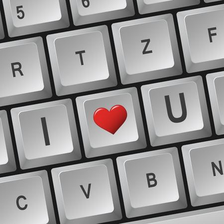i love u: Computer keyboard - I Love U