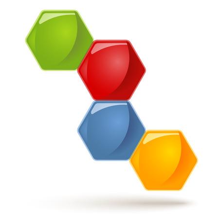 Honeycombs symbols - 4 Options