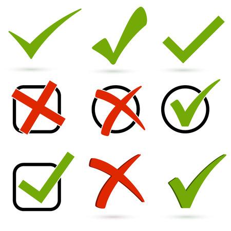 to tick: Conjunto de controles y cruces