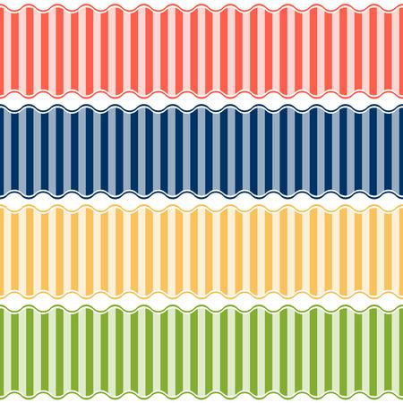 banderole: Banner lined pattern - endless Illustration