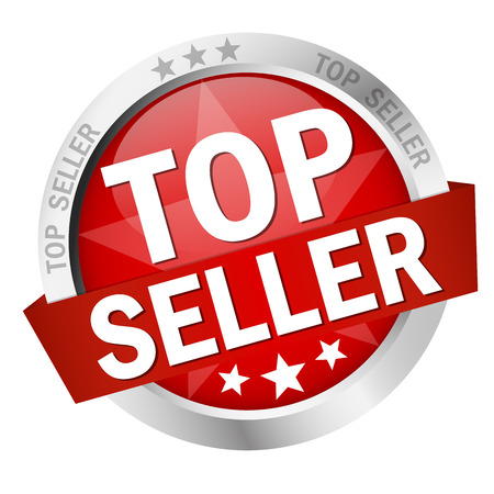vector of colored isolated button TOP SELLER Vettoriali