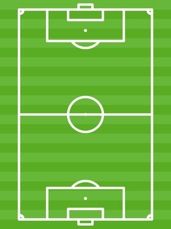 football field green vector illustration