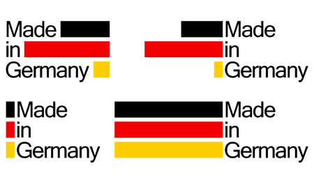collection of seals of quality MADE IN GERMANY Vector
